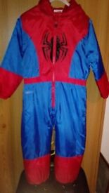 Spiderman rain suit size 4-5 yrs