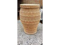 Vintage Laundry Handmade Round Wicker Basket