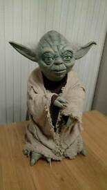 Rare Star Wars Yoda life size film prop puppet Illusive Concepts?
