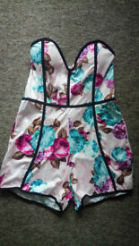 Brand new Strapless Floral Playsuit/romper