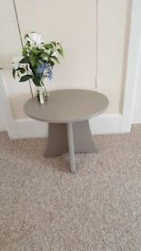 Little oval side table finished in Annie Sloan chalk paint