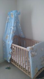 Cot with accessories