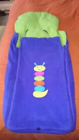 Bright coloured Universal foot muff / pram cosy / car chair muff / seat liner / buggy liner