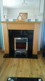fireplace, hearth and surround