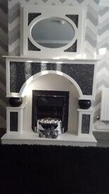 beautiful fireplace&mirror