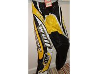 wulfsport race pants motocross motox quad junior youth kids yellow size 26 approx age 9-10
