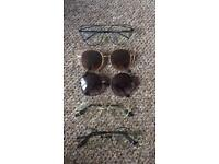 Circular & Cat-style Clear lens Glasses Plus Sunglasses