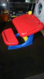 Childrens/toddlers drawing desk table