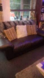 Leather sofa Harvey's 2 two seaters