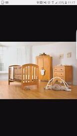 Mamas & Papas pine nursery set