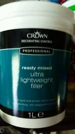 Crown lightweight decorating filler 1ltr