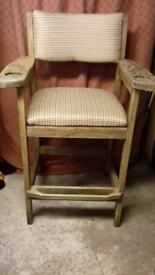Solid Beech Clubhouse Style Bar Chair