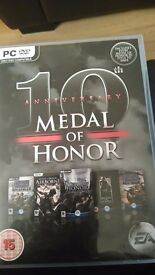 medal of honor 10th anniversary pc/dvd