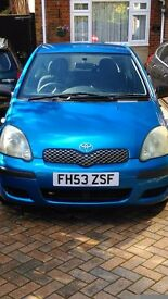 Toyota Yaris For Sale £1,000 ONO under 99000 miles