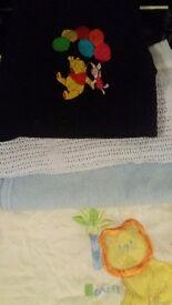 Baby blankets x4 boys pram blankets 2 fleece