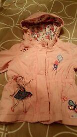 Next pink hooded jacket