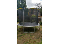 Sportspower 10ft trampoline damaged slightly with accessory pack