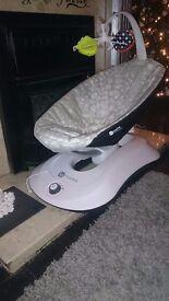 4moms Rockaroo Grey Baby Bouncer Excellent Condition