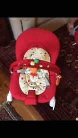 Chicco baby bouncer- red