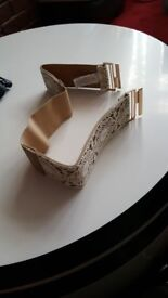Light Brown and white lace belt