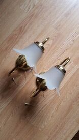 pair of wall lights in working order collection in person £7