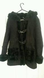 Black size 10 Topshop coat