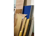 Desk Divider / Partition - 140cm x 155cm x 4cm - blue - 3x - free to uplift
