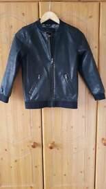 age 10 yrs boy River island leather coat