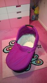 REDUCED. Mamas & Papas Urbo carrycot pink/purple