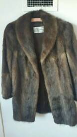 Brand new Fur jacket rare size 10 to 12