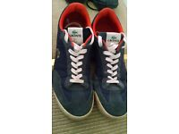 Lacoste size 10 blue suedey trainers
