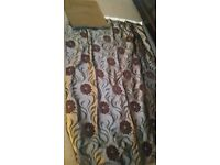 Made to measure brown curtains and swag pelmet 2 pairs