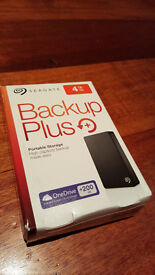 4TB Seagate Backup Plus USB 3.0 Portable 2.5 inch External Hard Drive for PC and Mac - Black