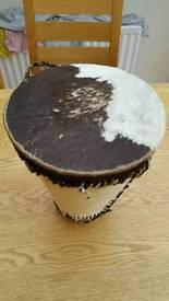 African cow hide drum