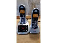BT Twin Big Button Digital Cordless Phones With Answer Machine