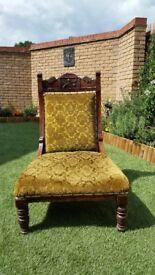 Victorian Antique Nursing Chair