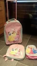 Princess 3 piece luggage set