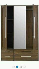 3door 4draw mirrored wardrobe