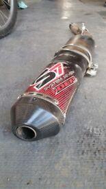 Yamaha wr450 exhaust fmf power bomb plus dep rear section