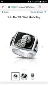 Into The Wild' Wolf Men's Ring