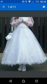 Carraige and castles first holy Communion dress