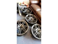 "20"" genuine Audi wheels fully refurbished. Chippenham"