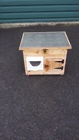 Dog kennel or Cat Hutch shelter. Suit small dog or cat with magnetic flap which locks