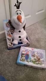 Disney frozen olaf tickle toy and jigsaw
