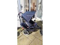 Phil and Teds Navigator Double Pushchair - Midnight Navy