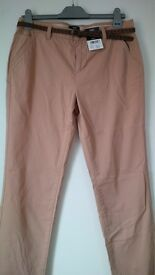 Brand new F&F ladies skinny fit chinos in beige, size 12