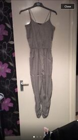 Ladies silver river Island Jumpsuit size 10