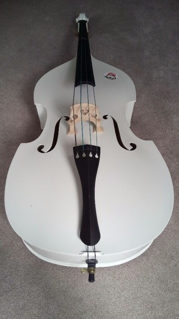Double bass 3/4 Whitein Woking, SurreyGumtree - Great value double bass 3/4 in White. Great bit of kit, used it loads of times for gigs and jams. Selling as I moved and dont have the room. Really great bass, perfect for beginners to pros. Will require new strings but easily found on Amazon