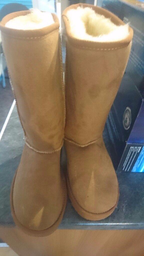 Chestnut tall ugg boots