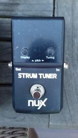 Nux strum tuner with box & instructions